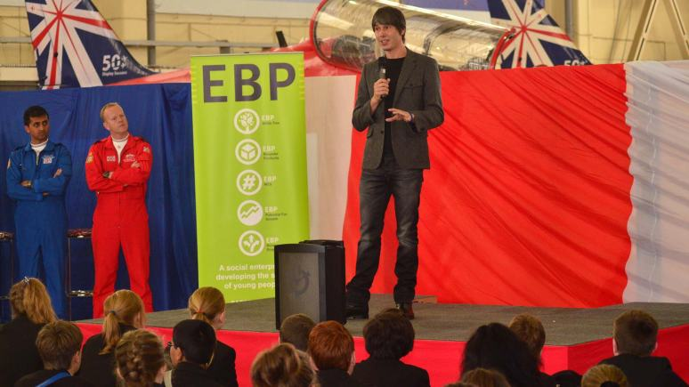 Professor Brian Cox, speaking at the STEM Day. Photo: Steve Smailes for The Lincolnite