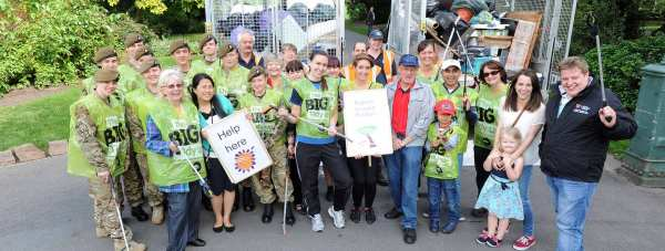 Residents, councillors, cadets, Action LN2 and residents, with the two van-loads they collected. Photo: Stuart Wilde