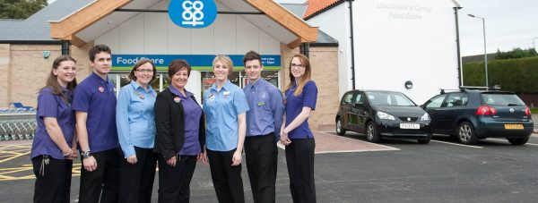 Staff at the new £1 million Dunholme Lincolnshire Co-op food store. Photo: Chris Vaughan