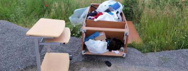The items collected were dumped at Metheringham Airfield.