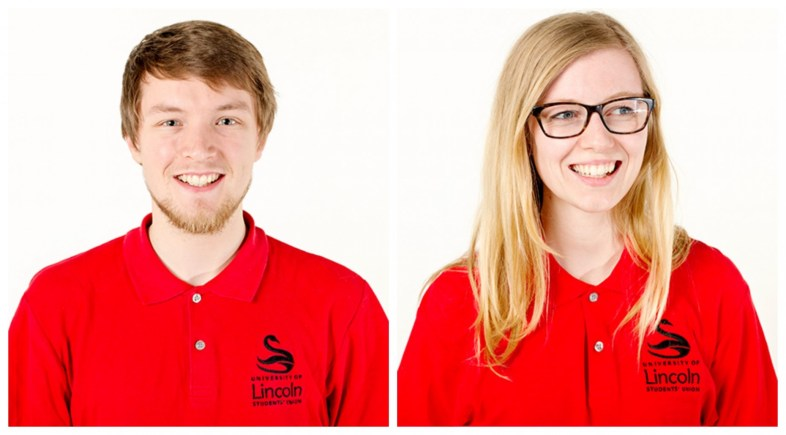 University of Lincoln Students' Union President Brian Alcorn and Olivia Hill, Vice-President Welfare & Community. Both are leading the counter campaign.