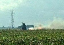 The scene of the crash in Weston Hills, near Spalding. Photo: Jack Budds (@JBudds555)