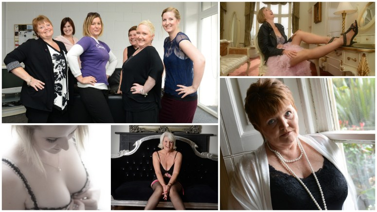 The girls plucked up their confidence in order to pose for the cancer charity calendar. Photos: Jane Harrison