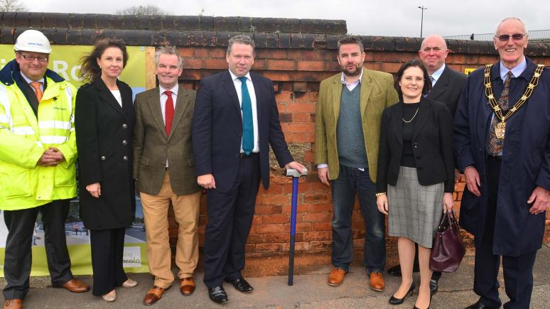 The project was launched by councillors, contractors and local business representatives. Photo: Steve Smailes for The Lincolnite