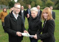 (L-R Front) Andrew Cottage from LDA Design, Claire Eldred from Linkage and Caroline Bird from City of Lincoln Council.
