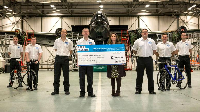 The BBMF team raised over £10,000 for the International Bomber Command Centre, to be built in Lincoln. Photo: International BCC
