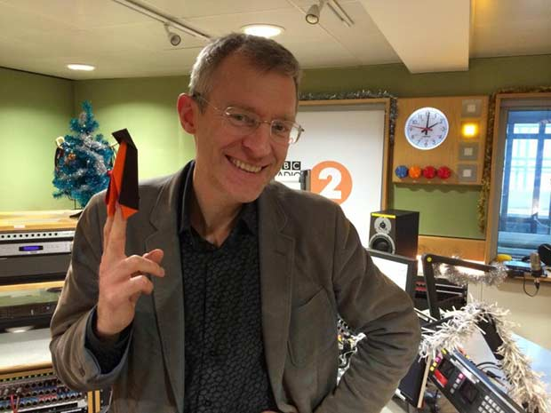 Jeremy Vine and his Lava penguin last year.
