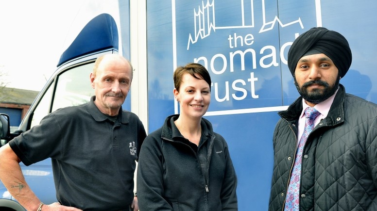 Mathew Boyd, Nomad warehouse manager, Sheena Temple, Nomad Retail Manager and Jag Landa, Banks Long & Co Surveyor