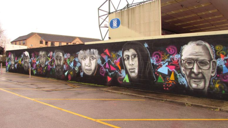 The colourful art piece is now complete at Sincil Bank football stadium. Photo: LEAP Participation Group