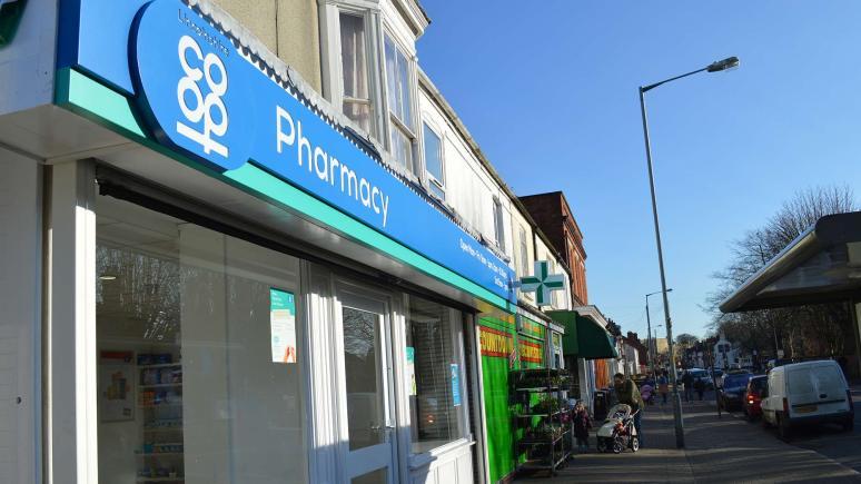 Outside Burton Road Pharmacy