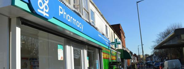 Outside Burton Road Pharmacy