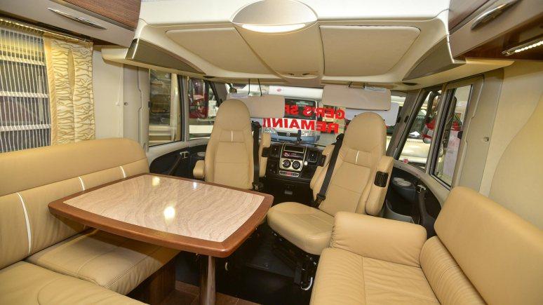 Inside one of the Camper Vans