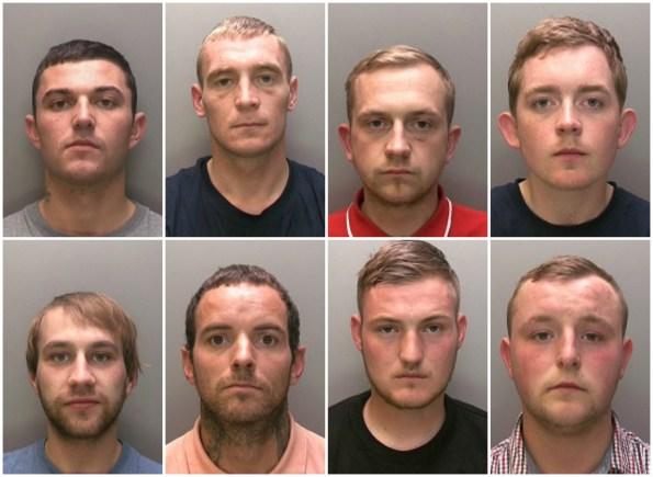 (L-R) (Top to bottom) Aaron Bee, Patrick Cassidy, Calum Nesbitt, Jordan Munks, Davy Nesbitt, Simon Purdy, Samuel Sellers and Edward Wilson