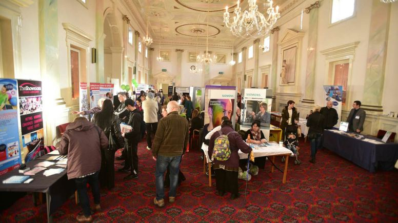 The Lincoln Jobs Fair at the Assembly Rooms on Bailgate on Friday, February 6. Photo: Steve Smailes for The Lincolnite