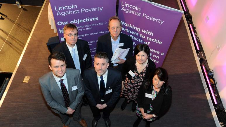 Speakers at the second Lincoln Against Poverty Conference. Photo Stuart Wilde