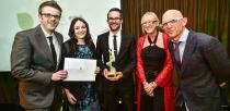 The winners of the Innovation in Web Design award Root Studio for lincolnshireshow.co.uk.  Photo: Steve Smailes for Lincolnshire Business
