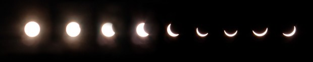 A time-lapse of the eclipse, Photo: Jim Bass