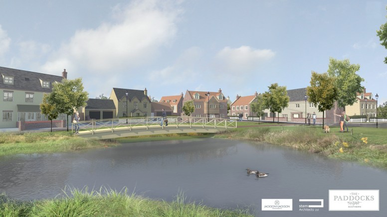 An artist's impression of the new Scothern development. Designs: Stem Architects