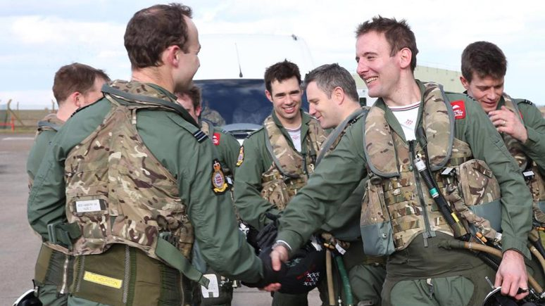 The team has three new pilots for 2015. Photo RAF Red Arrows