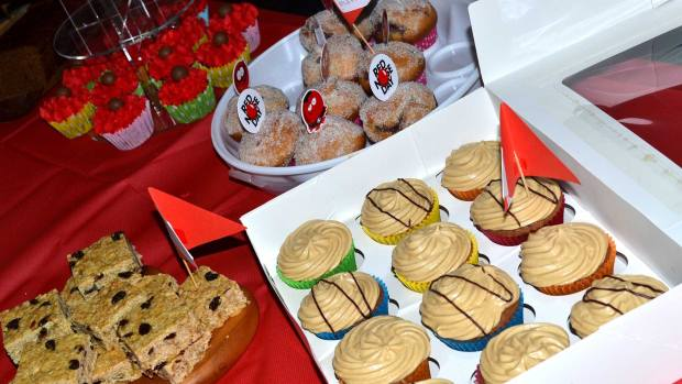 Cakes made by the university for Red Nose Day