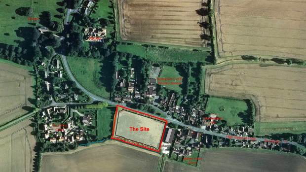 The site of the proposed Scampton development. Photo: GS Hughes Ltd & JCM Glassford Ltd