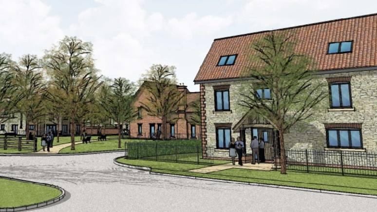 The proposal for a new 18-home estate in Scampton. Photo: GS Hughes Ltd & JCM Glassford Ltd