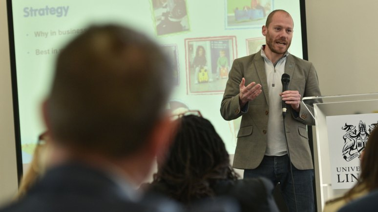 Rob Law, Creator and CEO of Trunki, key speaker at the Doing It Differently Conference. Photo: Steve Smailes for The Lincolnite
