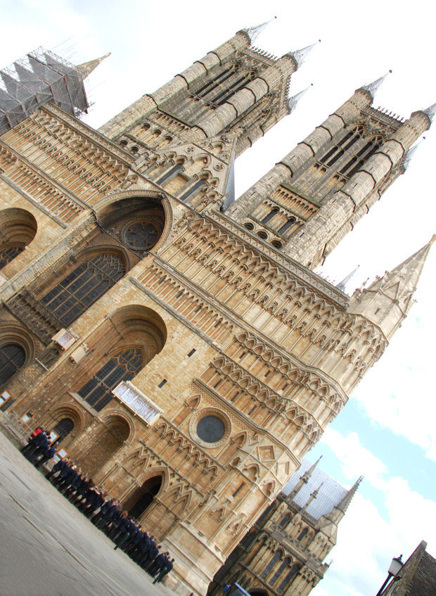Hundreds gathered at Lincoln Cathedral. Photo: The Lincolnite