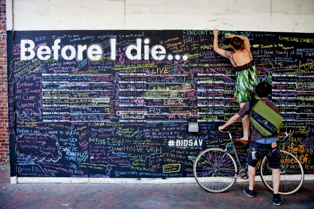 The Before I Die wall has become an international art project, bringing people together to think about their dreams.