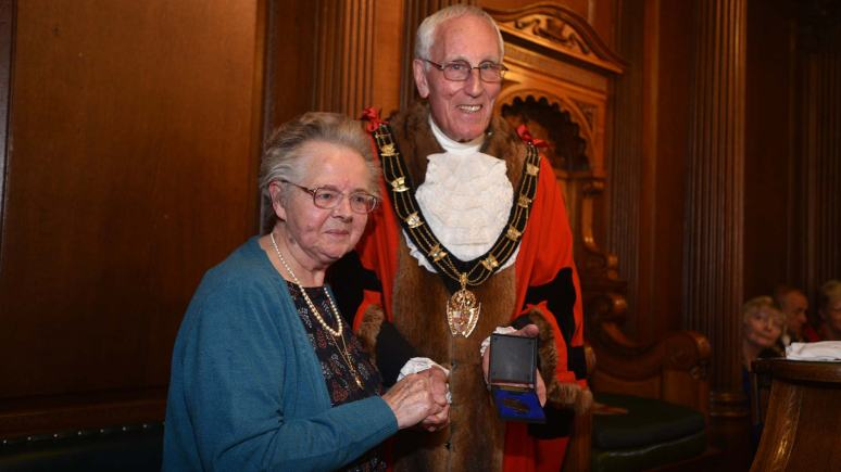 "Mayoral Medal winner Eileen Sheriff for her ""excellent work in the community"". Photo: Steve Smailes for The Lincolnite"
