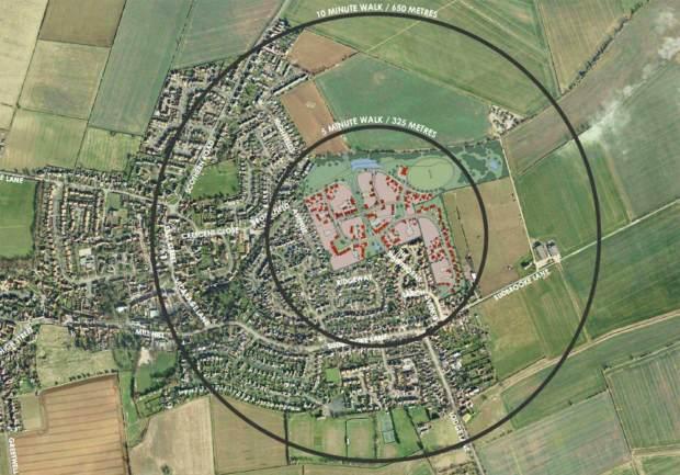The proposed 200-homes development in Nettleham. Photo: Globe Consultants Ltd