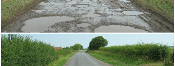 An example of the treatment before and after. Photo: LCC