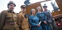 A group donned traditional uniforms to represent the workers on the first tank. Photo: Steve Smailes for The Lincolnite