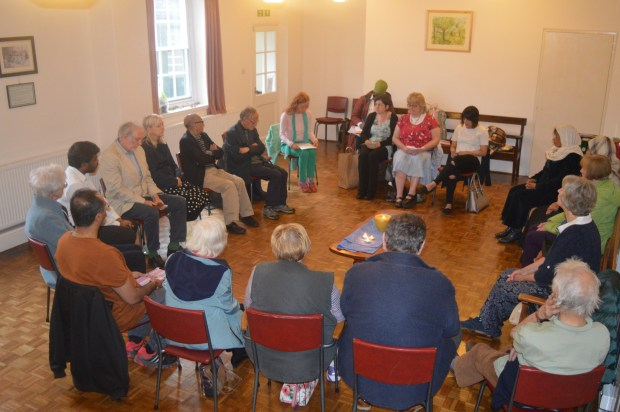 The group, made up of people from a number of different faiths, learnt about the disasters of the Nepal earthquake from a first hand account.