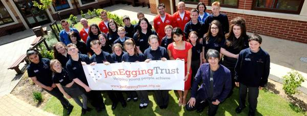 Brian Cox and the Jon Egging Trust students