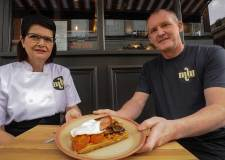 Madame Waffle owners Sharon and Bruce Whetton. Photo: Steve Smailes for The Lincolnite