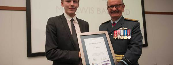 Lewis Barnard was thanked for his assistance with the Mingzi Yang murder case. Photo: Steve Smailes for The Lincolnite