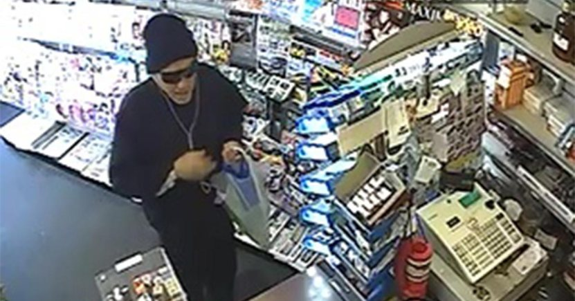 CCTV footage of the suspect from Candy News. Image: Lincolnshire Police