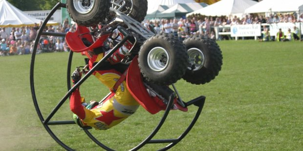 The Kangaroo Kid has jumped thousands of objects including an RAF Phantom jet, 14 Trucks and a flying airplane to name a few. See him perform on both days in the Main Ring.