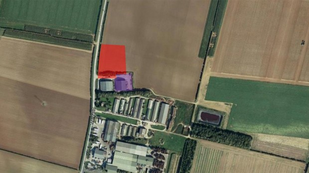 The units are planned to be constructed on land off Mere Road, adjacent to Branston Potatoes Ltd. Photo: Google Earth