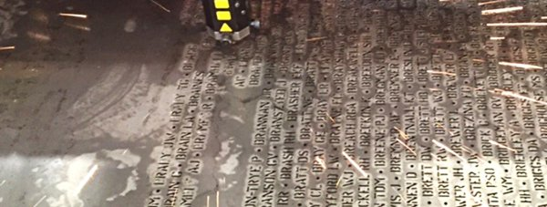 Lincoln-based Micrometric is cutting the names of the fallen aircrew from Bomber County.