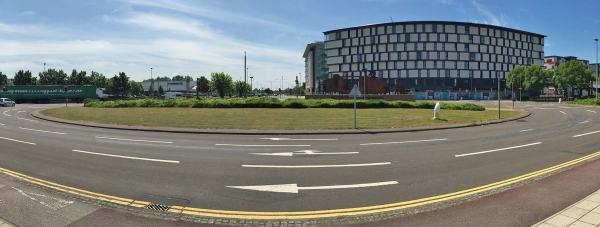 Tritton Road roundabout, the unique setting for the Lincoln business expo.