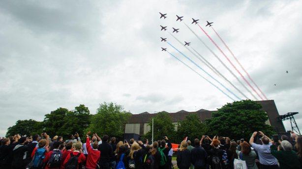 STEM-Day-RAF-Scampton---Red-Arrows-08-07-2015-SS-1