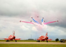 RAF Scampton is currently home to the Red Arrows. Photo: Steve Smailes for The Lincolnite