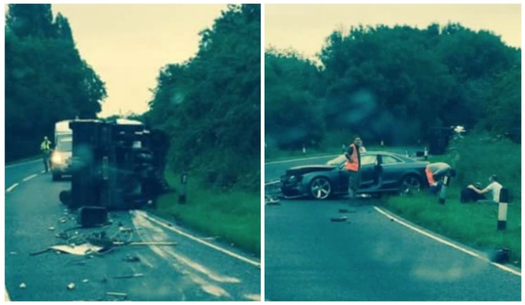 A man has been taken to hospital with serious injuries after the collision on the A46.