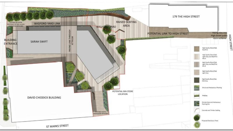 The university's masterplan for the site of the site known as Wigford Yard.