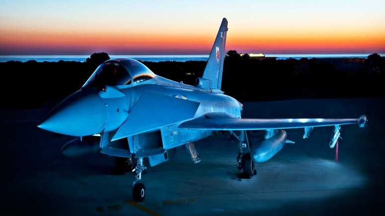 Typhoon at sunset. Photo: RAF Coningsby