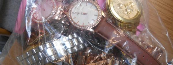 Counterfeit watches seized.