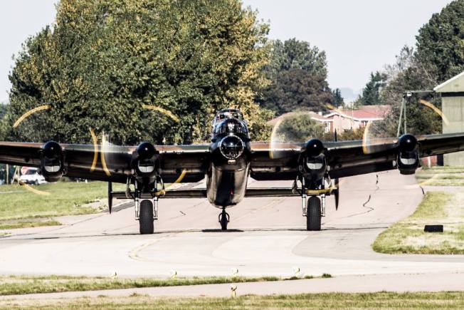 Lancaster bomber Thumper III's test flight on October 12, 2015. Photo: Keith Campbell - Capture A Second Photography