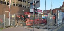 Demolition work has officially begun at the site of the High Street Footbridge. Photo: The Lincolnite